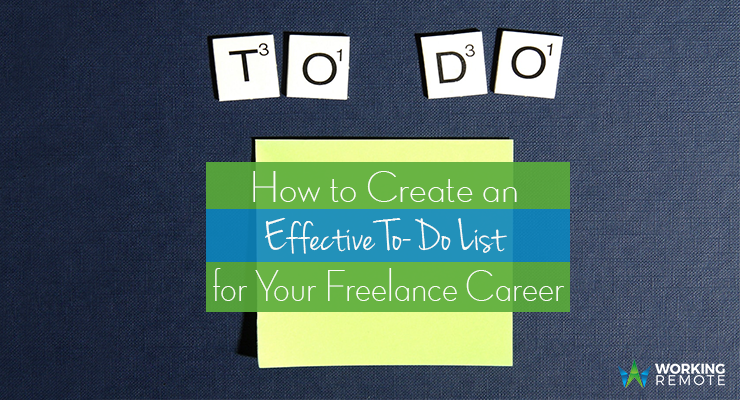 How to Create an Effective To-Do List for Your Freelance Career